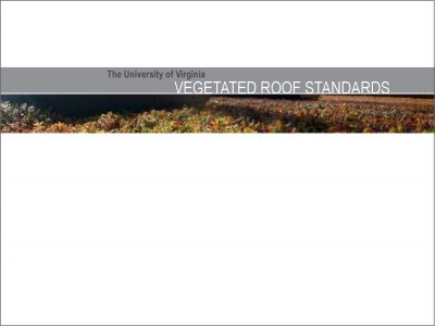 Vegetated Roof Standards (2013)